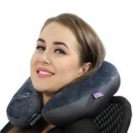 Viaggi Vibrating Neck Massage Grey Pillow VIA0069