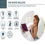Memory Foam Wedge Leg Rest Pillow -(17 x 14.8 x 7)