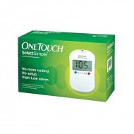 One Touch Select Simple Glucometer with 10 Test Strips Free
