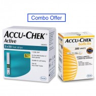 Accu-Chek Active 100 Strips With 200 Lancets - Combo Offer