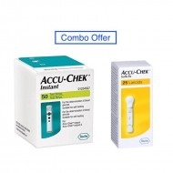 Accu Chek Instant S 50 Strips With 25 Lancets - Combo Offer