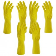 Yellow house hold gloves