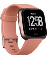 Fitbit Versa Health and Fitness Smartwatch - Rose Gold- Water resistant fitness companion unisex smart watch