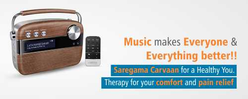 Saregama Carvaan Portable Digital Music Player with Remote - Oak Wood Brown Meddey.com