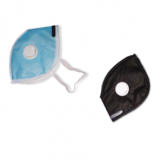 Dust mask with filter valve pack of 2 (1 Blue and 1 Black)