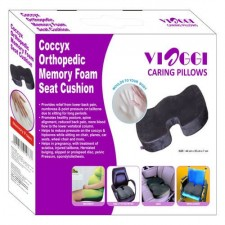 Coccyx Seat Cushion Orthopaedic Memory Foam for reduced backache and pressure for Promoting good posture and correct spine alignment - Viaggi