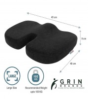 Grin Health Coccyx Seat Cushion With Memory Foam For Sciatica Tailbone  Back Pain Relief