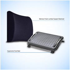 Lumbar Support Backrest and Ergonomic Footrest - Combo