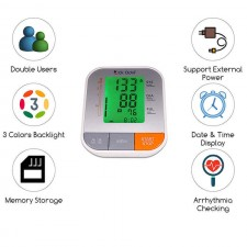 Dr. Odin B12 Fully Automatic Digital Blood Pressure Monitor with Alarm &Talking Function