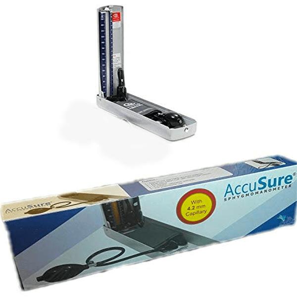 AccuSure Mercury Sphygmomanometer with 4.2mm capillary