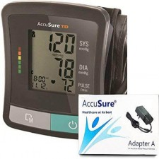 AccuSure TD Blood Pressure Monitor with Power Adapter