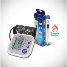 Dr Morepen BP02 Blood Pressure Machine and Digital Thermometer - Combo Offer