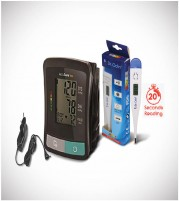 Accusure BP Machine Model TD with adaptor and Digital Thermometer  - Combo Offer