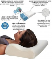 Neck Support Cervical Memory Foam Pillow - 23x13x3.5 The White Willow