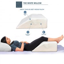 Bed Wedge Pillow Orthopedic Medical Grade Memory Foam - The White Willow