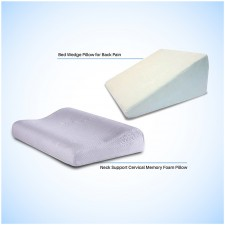 Neck Support Cervical pillow and Bed Wedge Pillow Back Support - Combo