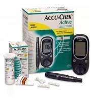 Accu Chek Active Glucometer Machine with 10 Strips Free