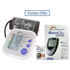 Dr Morepen BP monitor BP02 and Glucometer BG03 with 50 Test strips- Combo Offer