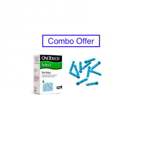 One Touch Simple Select 50 Test Strips with 100 Lancets - Combo Offer