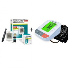 Accu Chek Instant Glucometer Machine with Dr Odin BP Machine
