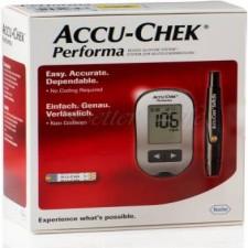 Accu Chek Performa Glucometer with 10 Test Strips Free