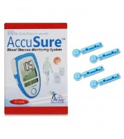 Accusure Blue 50 Strips with 100 Round Lancets