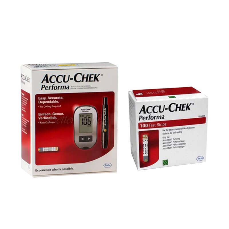 Accu Chek Performa Gluco meter with 100 Test Strips- Combo Offer