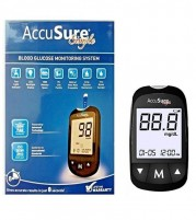 AccuSure Simple Glucometer with 25 Test Strips
