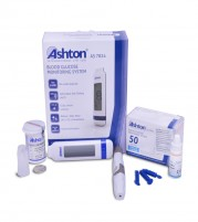 Ashton UK Glucometer Machine and 60 Strips