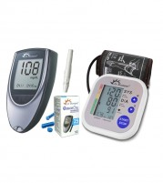 Dr Morepen Blood Pressure Monitor BP02 and Glucometer Machine BG03 with 25 Test strips- Combo Offer