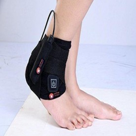 Portable  Wireless Heating Pad For Knee Elbow Neck and Ankle Joints Pain Sandpuppy Strappr AWFG003 - Universal Size Black