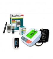 Dr. Odin B12 BP Machine Pulseoximeter Accu Chek Instant S Glucometer