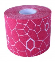 Theraband Kinesiology Tape Pink White Print