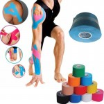 Generic Kinesio Athletic Sports Kinesiology Tape - 5m x 5cm for Knee Shoulder Calf and Thigh - Pain Relief in Sports