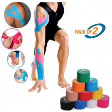 Generic Kinesio Athletic Sports Kinesiology Tape - 5m x 5cm - Pain Relief in Sports (Pack of 2)