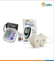 Dr Morepen BP monitor BP02 and Dr Morepen Glucometer BG03 with 50 strips and 2 N95 Masks