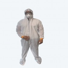 Coverall Protection Suit (60-70 GSM) with attached Head and Foot Cover - non sterile