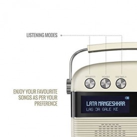 Saregama Carvaan Porcelain White Music Player with Remote