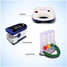 Piston Compressor Nebulizer with Digital Pulse oximeter and Lung Exerciser - Combo Offer