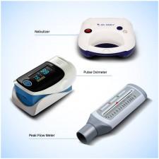 Piston Compressor Nebulizer with Digital Pulse oximeter and Peak Flow Meter - Combo Offer