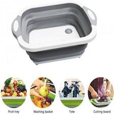 Fruit Vegetable Storage Multipuroose Folding Basket (Green Color)
