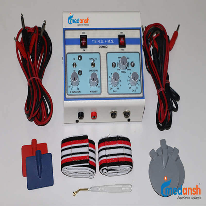 2 channel TENS machine with Muscle stimulator portable for non-invasive low-risk nerve stimulation for pain relief- Medansh
