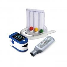 Pulseoximeter Lung Exerciser Peak Flow Meter Respiratory Value Combo