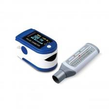 Pulse Oximeter and Peak Flow Meter Respiratory Care Combo