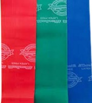 Theraband set of 3 bands ( Red, Green, Blue)