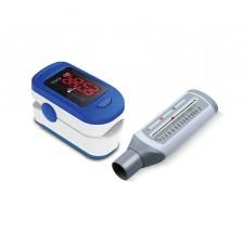 Accusure Pulseoximeter and Rossmax Peak Flow Meter Combo