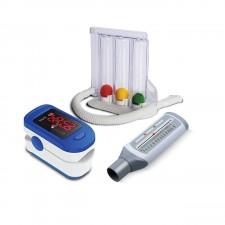 Accusure Digital Pulseoximeter with Lung Exerciser and Peak Flow Meter