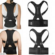 Magnetic Posture Corrector Medium (32 to 36 inch) Adjustable for Neck Back and Abdominal Support